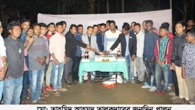 নগরীর সাগরদীঘির পাড়ে তাহমিদ আহমদ তালুকদারের ২২তম জন্মদিন পালন